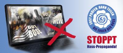 Hass-Propaganda im Internet stoppen!