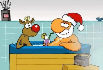 Fröhlich-lachende Weihnachten!