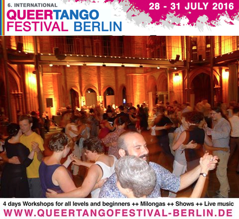 Das Programm des Internationalen Queer Tango Festivals Berlin (28.-31. Juli) ist fertig!