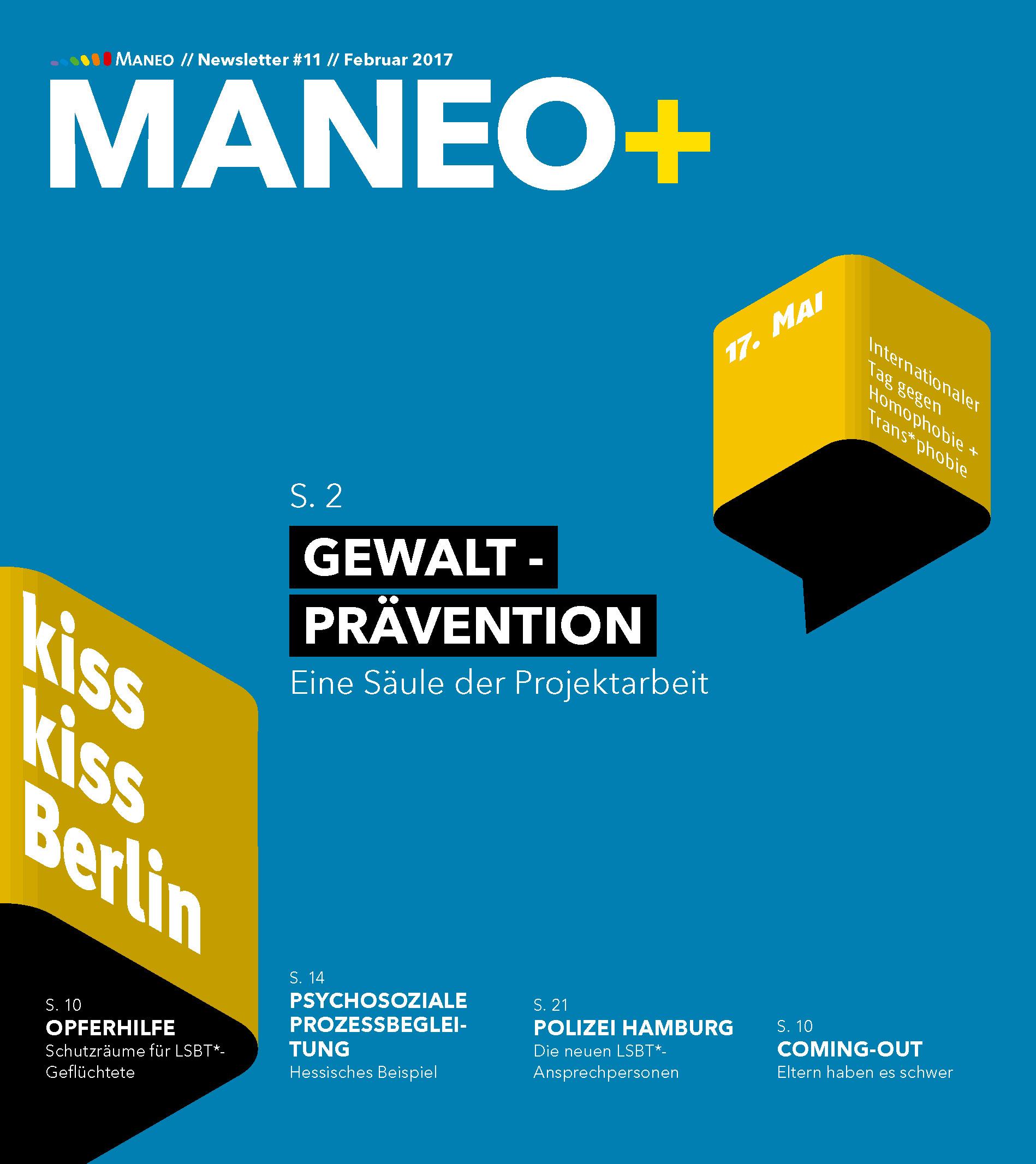 Aktueller Newsletter von MANEO e.V.