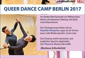 """Auch 2017 wieder ein """"Queeres Tanztrainingslager"""" (15.–17.12.)  &  ein """"Rosa Weihnachtsball"""" am 16.12."""